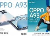 Oppo A93 در تاریخ 6 اکتبر معرفی می شود.