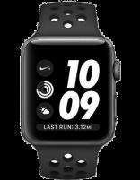 ساعت هوشمند اپل واچ سری 3 مدل نایک پلاس اسپیس گری با بند اسپورت