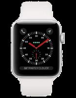 ساعت اپل واچ سری 3 سلولار مدل سیلور آلمینیوم  با بند اسرت