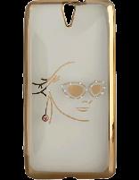 کاور نگیندار یونیک مدل چهره مخصوص گوشی سونی Xperia C5