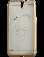 کاور نگیندار یونیک مدل قلب مخصوص گوشی سونی Xperia C5