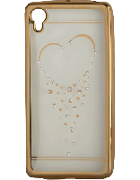 کاور نگیندار یونیک مدل قلب مخصوص گوشی سونی Xperia X