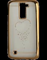 کاور نگین دار یونیک مدل قلب مخصوص گوشی ال جی K8