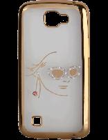 کاور نگین دار یونیک مدل چهره مخصوص گوشی ال جی K4