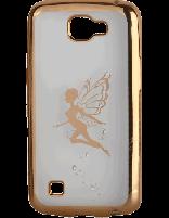 کاور نگین دار یونیک مدل پروانه مخصوص گوشی ال جی K4