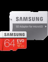 کارت حافظه microSD HC سامسونگ مدل Evo Plus ظرفیت 64 گیگابایت