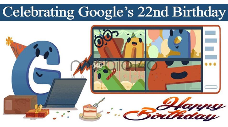 22 سالگی گوگل
