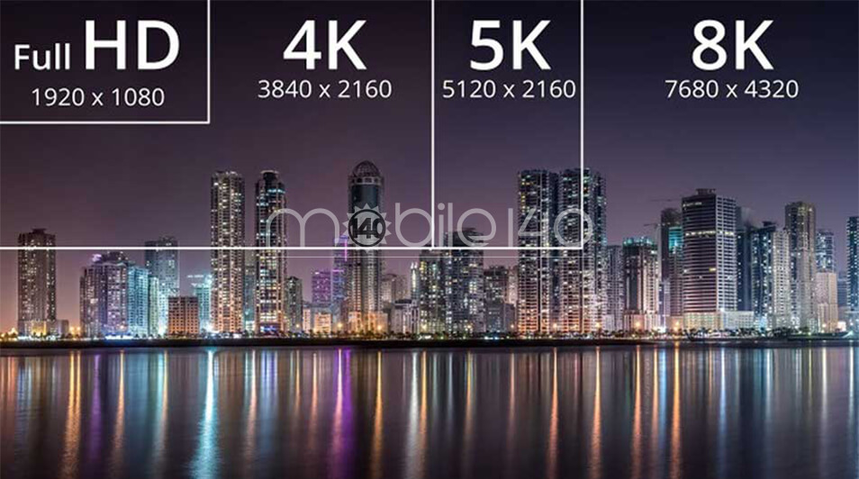 تفاوت بین 4k و 5k و full-hd و 8k