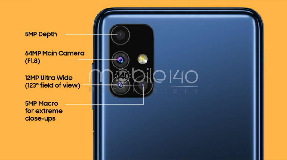 Galaxy M51 دوربین