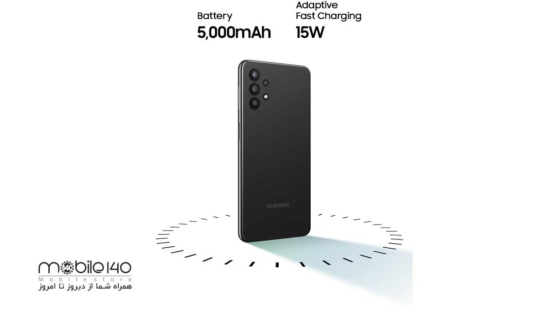 این محصول سامسونگ داری باتری با ظرفیت 5000 میلیآمپر ساعتی است که میتواند از شارژ سریع 15 واتی پشتیبانی کند. A32 برای گیمرهایی که نگران زود تمام شدن باتری گوشی خود هستند گزینه بسیار مناسبی است.